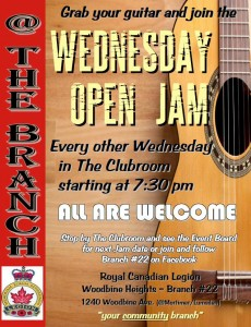 WEDNESDAY NITE JAMMIN @ THE BRANCH